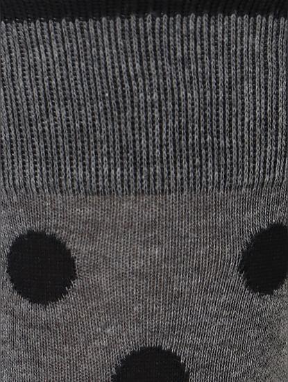Grey Polka Dot Mid Calf Length Socks