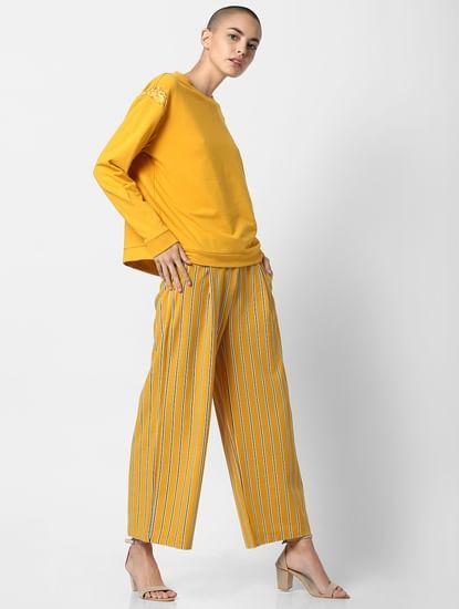 Yellow Lace Sweatshirt