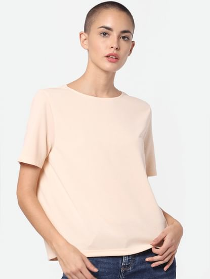 Pale Pink Cut Out Back Top