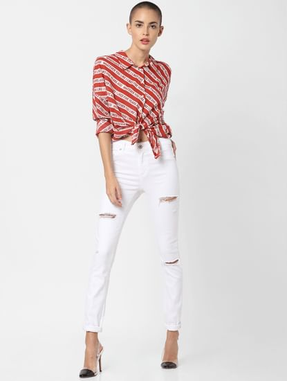 Red Striped Shirt