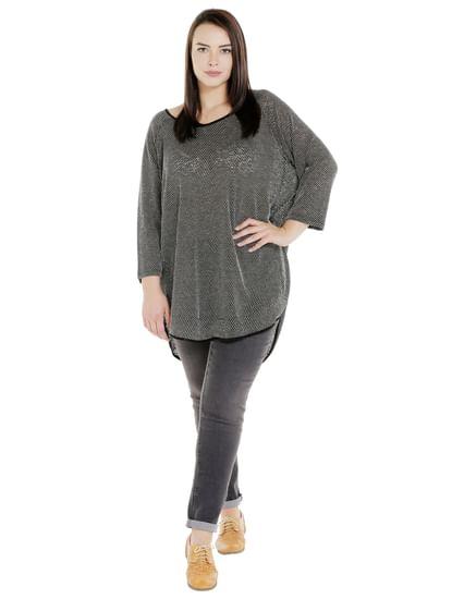 JUANROSE Black Textured Pullover
