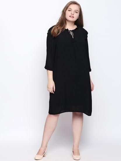 Black Ruffle Shift Dress