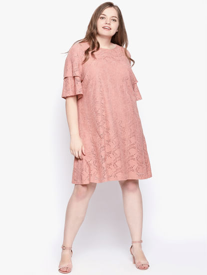 Rose Lace Shift Dress