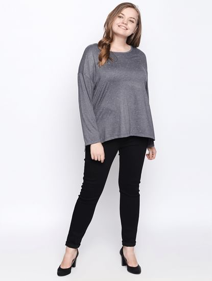 Dark Grey Printed T-shirt