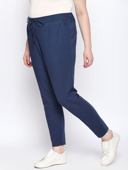 Black Drawstring Regular Fit Pants