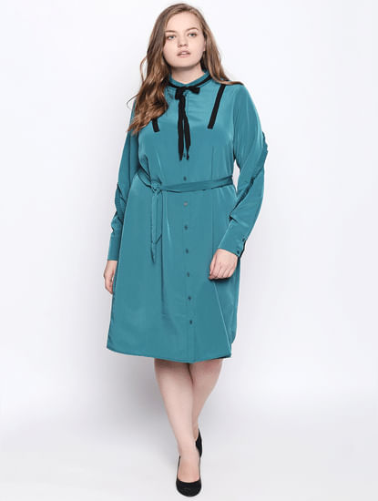 Teal Shift Dress