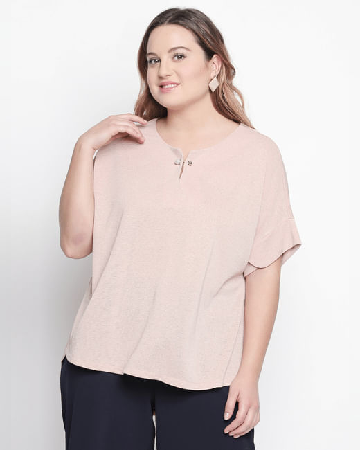 Rose Shimmer Top