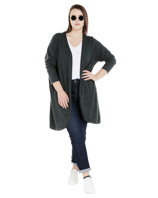 Dark Green Front Open Shrug