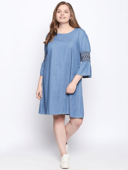 Blue Denim Shift Dress