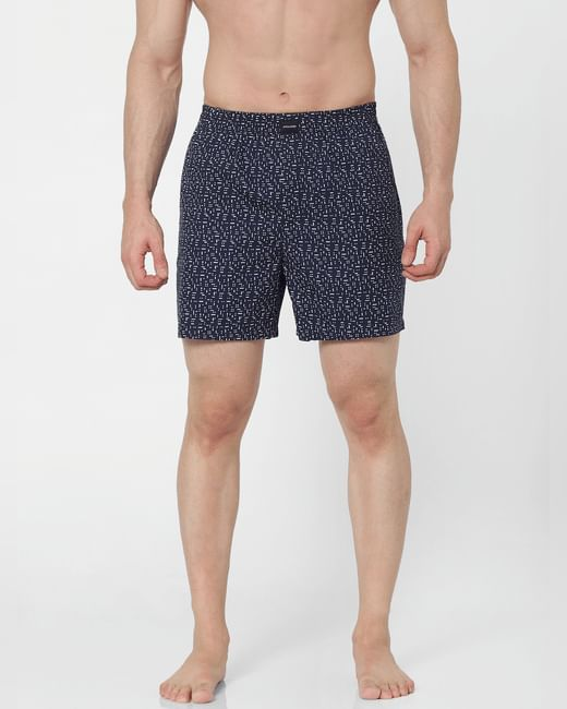 Navy Blue All Over Print Boxer