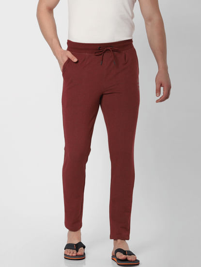 Red Mid Rise Trackpants