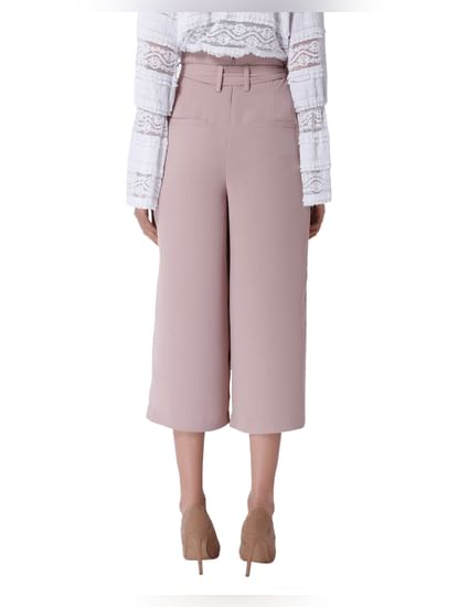 Light Pink Cropped Flared Pants