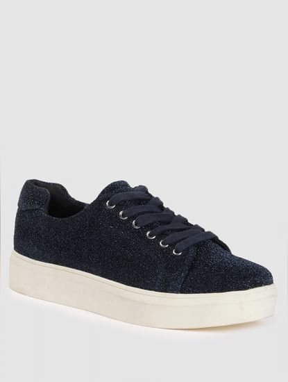 Blue Shimmer Sneakers