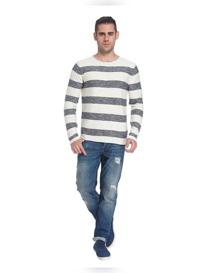 White Striped Pullover