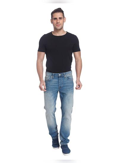Light Blue Weft Regular Fit Jeans
