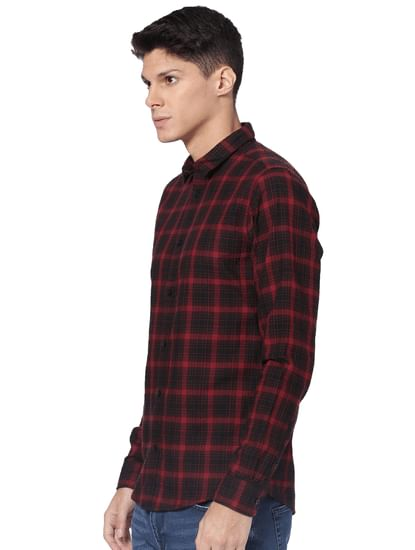 Red Check Full Sleeves Shirt