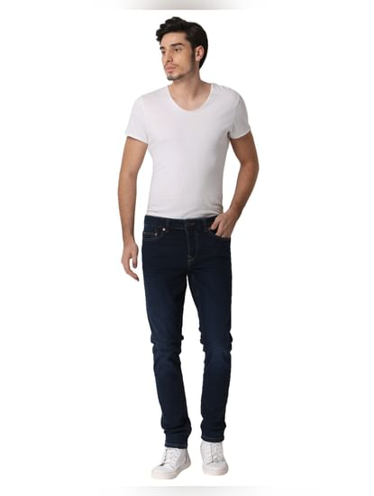 Dark Blue Loom Slim Fit Jeans