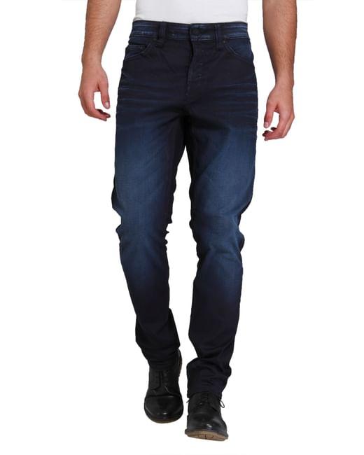 Dark Blue Weft  Regular Fit Jeans