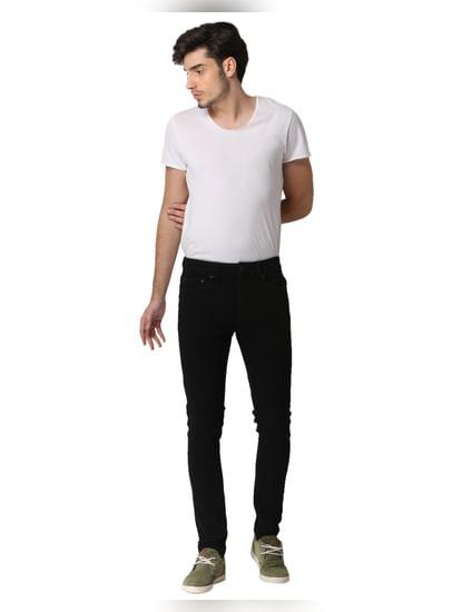 Black Warp Skinny Fit Jeans
