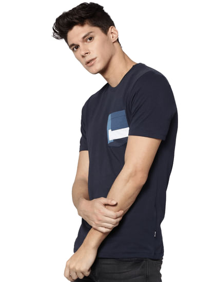 Navy Blue Crew Neck T-shirt