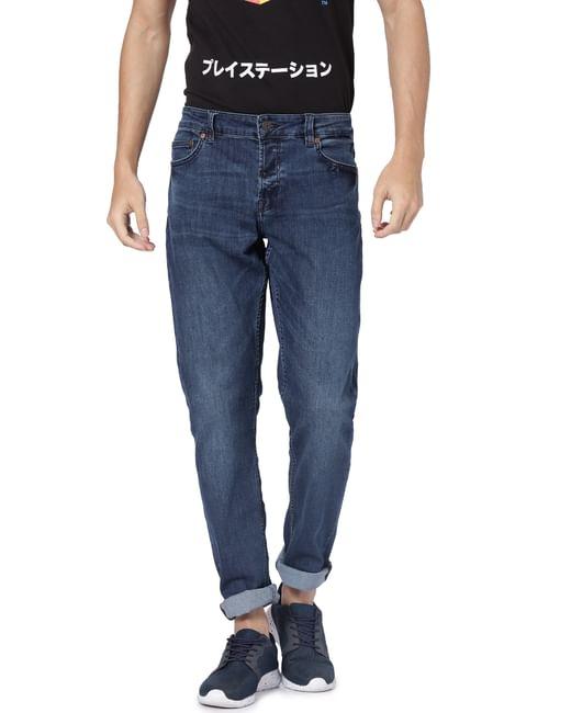 Dark Blue Spun Slim Fit Jeans