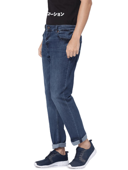 Dark Blue Spun Slim Fit Jeans