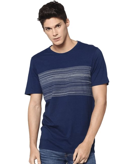 Dark Blue Crew Neck T-shirt