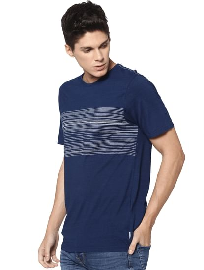 Dark Blue Crew Neck T-shirt