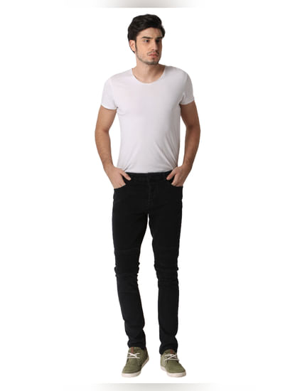 Black Spun Slim Fit Jeans