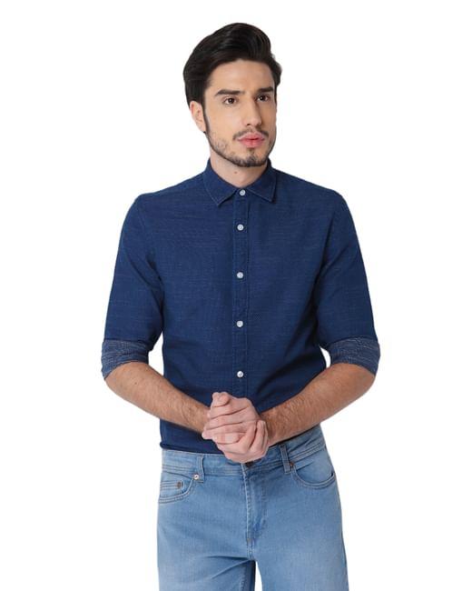 Dark Blue Full Sleeves Shirt