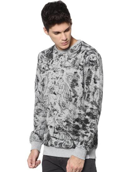 Grey All Over Print Sweatshirt