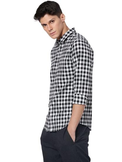 White Check Full Sleeves Shirt