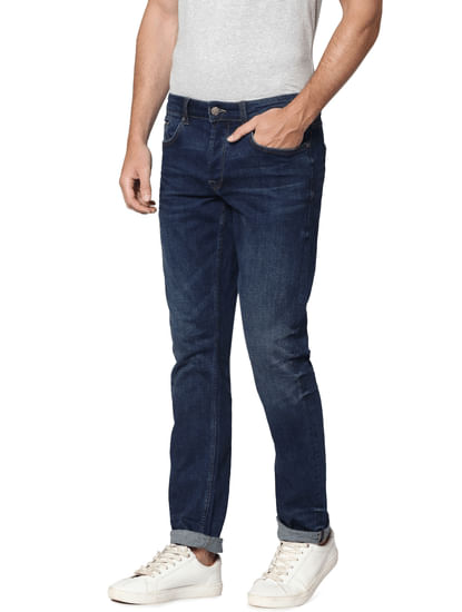 Dark Blue Regular Fit Jeans