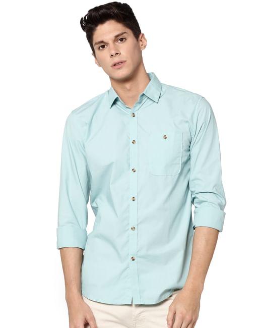 Aqua Full Sleeves Shirt