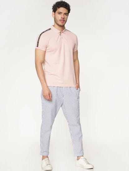 White Striped Pants