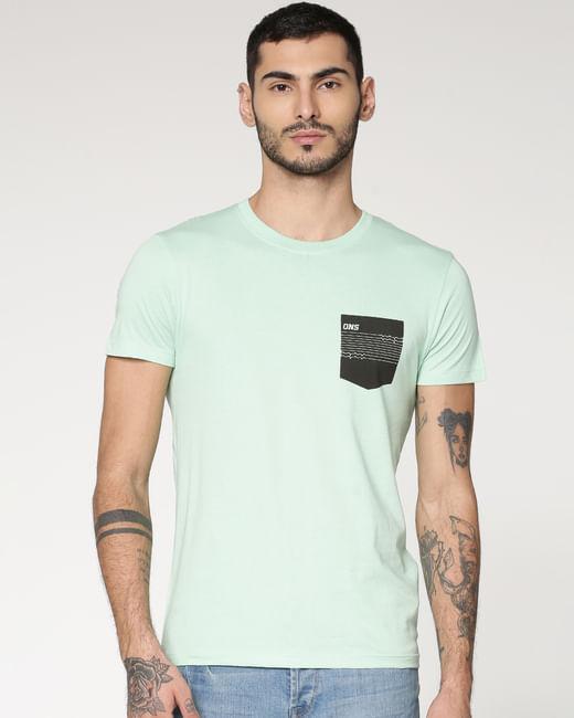 Light Green Crew Neck T-shirt