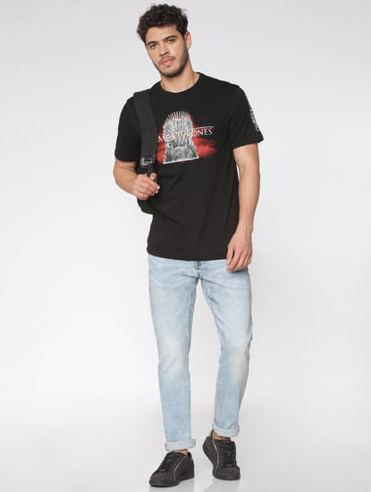 Light Blue Faded Slim Fit Jeans