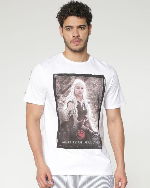 White Daenerys Targaryen Print T-shirt