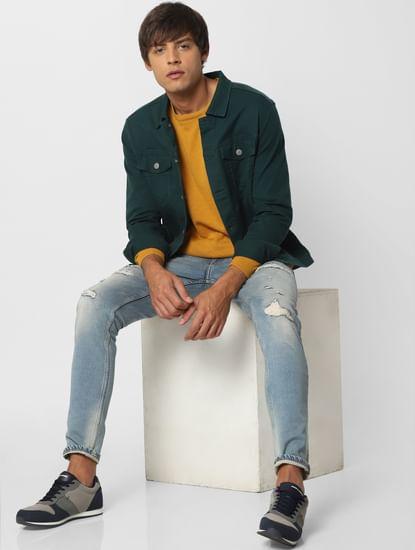 Mustard Knit Pullover