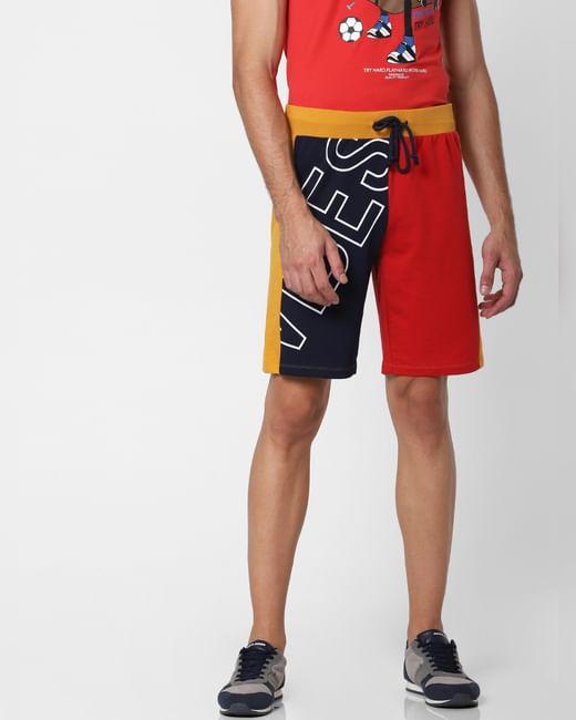 Multi-coloured Mid Rise Sweatshorts