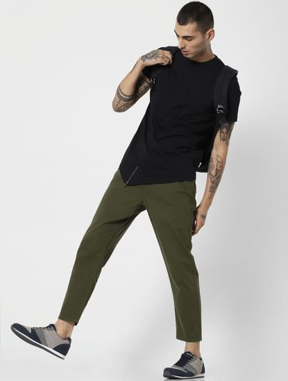Green Mid Rise Joggers