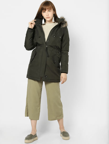 Dark Green Parka Jacket