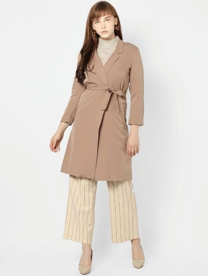 Light Brown Tie Up Coat