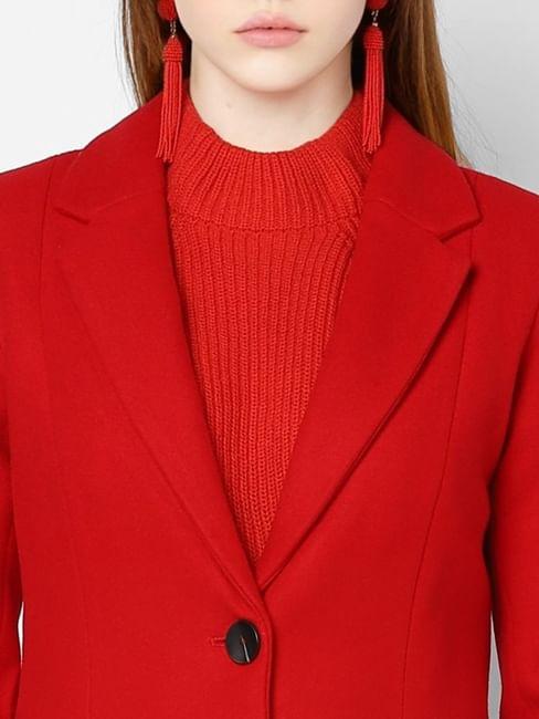 Bright Red Long Coat