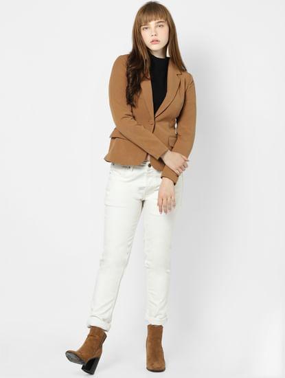 Brown Short Fitted Blazer