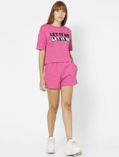 Pink Placement Print Sweatshirt