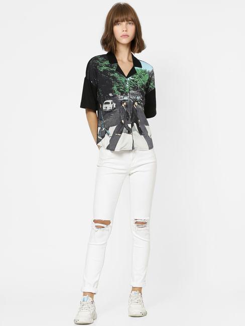 X The Beatles Black Abbey Road Print Shirt