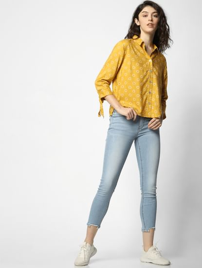Mustard All Over Print Shirt