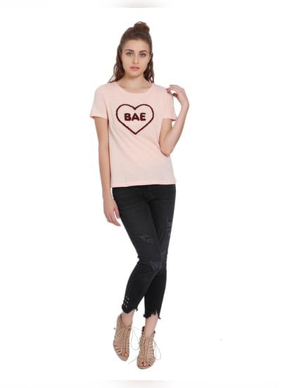 Pink Bae Print T-Shirt