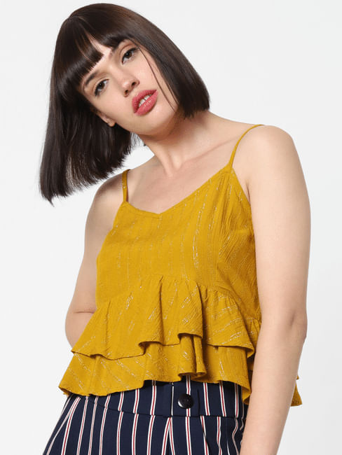 Mustard Layered Top
